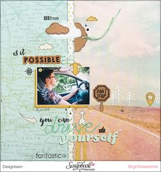 #layout mit der Serie #dreambig von #fancypantsdesigns - SCRAPinFeACTED.de