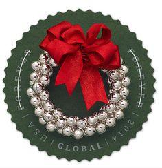 U.S. Postal Service Silver Bells Wreath International Forever stamp