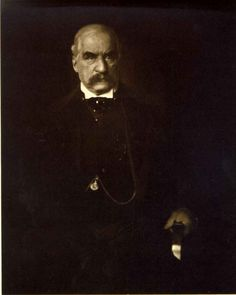 """Edward Steichen  -- """"J. Pierpont Morgan"""". (1903) A classic image of the early 20th century industrialist.  Morgan originally rejected the print, tearing it up and insulting Steichen. Only when it became well-known through exhibition did Morgan attempt to purchase it, and was then put off by Steichen for three years."""