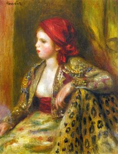Odalisque, 1895 by Pierre-Auguste Renoir, Later Years. Orientalism. portrait. Private Collection