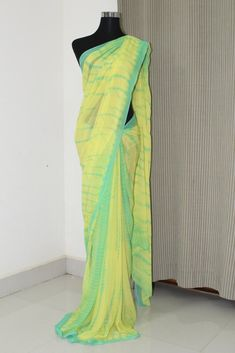 Tie and dye georgette saree