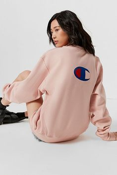 Champion & UO Reverse Weave Graphic Sweatshirt
