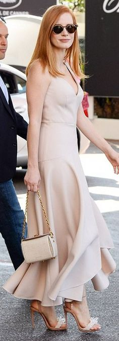 Jessica Chastain out in Cannes. #bestdressed