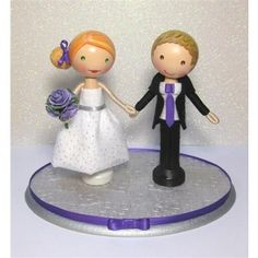 Custom Wooden Clothespin Doll Wedding Cake Topper by Enchant ...