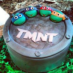 TMNT Cake - Teenage Mutant Ninja Turtles Cake - Pink Sugar Cupcakes