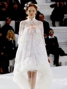 White Lace Chanel Dress