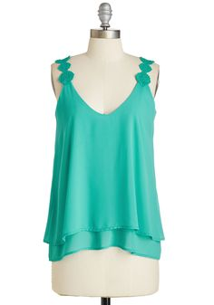 They Sway I'm a Dreamer Top. Imagine all the opportunities for effortless boho beauty presented by this vivid turquoise tank! #green #modcloth