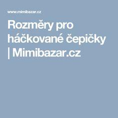 Rozměry pro háčkované čepičky   Mimibazar.cz