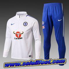 Replique Survetement Enfants FC Chelsea Blanc 2018 Discount