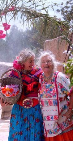 Merel Krielaart (co-creator of World Family Ibiza) and her mother Joke