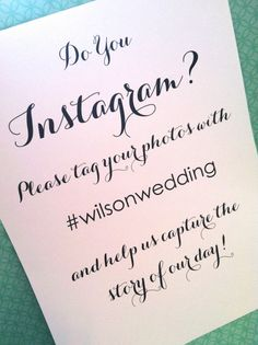 Instagram sign - wedding sign, reception sign, wedding reception, ceremony sign, social media sign