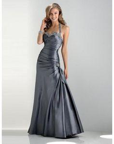 Trumpet / Mermaid Halter Beading Sleeveless Floor-length Taffeta Bridesmaid / Evening Dresses / Prom Dresses (SZ009001)