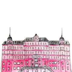 hotel illustration The Grand Budapest H - hotel H Hotel, Gran Hotel, Architecture Exam, Dream Drawing, Bujo Doodles, Research Images, The Royal Tenenbaums, Grand Budapest Hotel, Poster Drawing