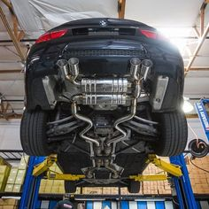 Under carriage shot showing the Meisterschaft GT2 exhaust on the E90 BMW M3. Contact us for pricing! 1-866-448-4843 sales@vividracing.com VRit.co/m3gthaus #gthaus #vividracing #Meisterschaft #m3 #e90 #92 #carporn #carswithoutlimits