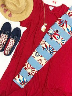 #lularoe #lularoecarly #lularoeleggings #lularoeamericana #flatlay #summerstyle #patriotic