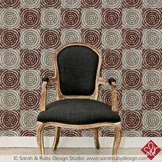 On The Mark | Hand-block printed wallpaper by Sarah & Ruby | www.sarahrubydesign.com #dswallpaper