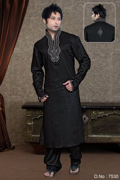 Kurta Pajama- Shop the latest Indian Kurta Pajama. Check out our wide range of Men's Kurta Pyjamas, Wedding Kurta Pyjamas, Designer Kurta Pajamas in Cbazaar with attractive prices and discounts. Indian Kurta, Wedding Of The Year, Indian Outfits, Indian Clothes, Sherwani, Wedding Suits, Formal Wear, Men Dress