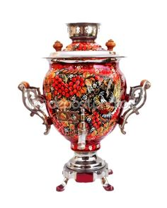 Russian traditional samovar isolated by saiko