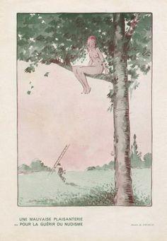 """André Pecoud 1933 ''Une mauvaise plaisanterie pour la guérir du nudisme"""""""