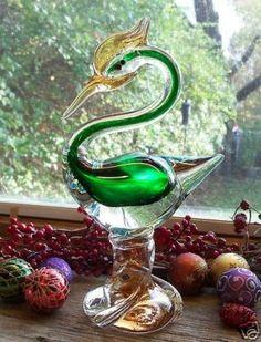 Regal MURANO Blown Art Glass Bird Figure http://deepsouthglass.ecrater.com/p/6357799/gorgeous-regal-murano-blown-art