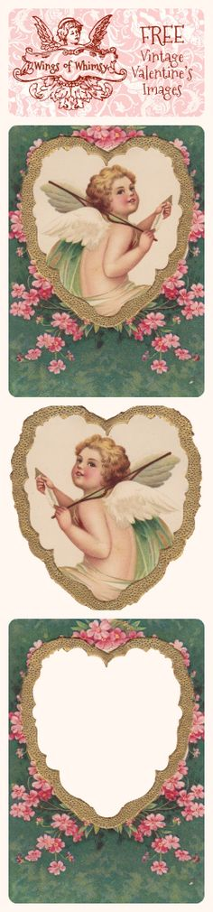 FREE DOWNLOAD VALENTINE IMAGES - Wings of Whimsy: Vintage Valentine's Images - free for personal use