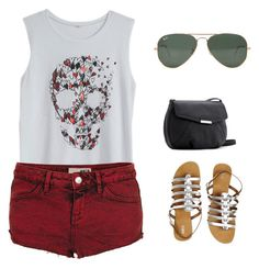 #107 by nandamfontes on Polyvore featuring Topshop, Oasis, MANGO and Ray-Ban