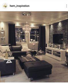 Black And White Living Room Interior Design Ideas | Pinterest ...