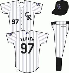 02d48ea795ee Colorado Rockies Alternate Uniform (2002) - CR logo in black and silver on a