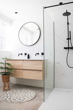 Bathroom Design Inspiration, Modern Bathroom Design, Bathroom Interior Design, Nordic Interior Design, Family Bathroom, Small Bathroom, Bathroom Renos, Bathroom Renovations, Bathroom Styling