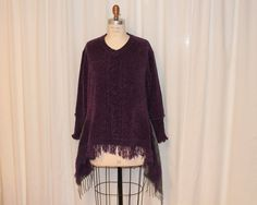 Hey, I found this really awesome Etsy listing at https://www.etsy.com/listing/217491958/upcycled-sweater-tunic-fringe-top-womens