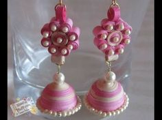 How to Quickly Make Quilling Jhumka/Earrings - YouTube