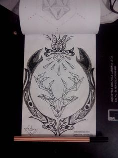 Dotwork and line style.