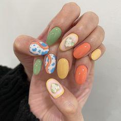 Simple Gel Nails, Summer Jobs, Orange Nails, Fashion Books, Nail Inspo, Cute Nails, Nail Art, Beauty, Pretty Nails