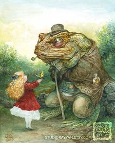 Items similar to The Young Lepidopterist (print) butterfly - child - girl - frog - toad -fantasy art on Etsy Frog Illustration, People Illustration, Book Illustrations, Omar Rayyan, Ella Enchanted, Frog Art, Fairytale Art, Pet Costumes, Wildlife Art