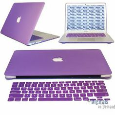I have the same case and keyboard protector, purple looks great with silver.