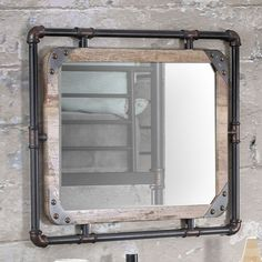 Furniture of America Revo Industrial Antique Black Framed Wall-Mount Mirror - 20292942 - Overstock.com Shopping - Great Deals on Furniture of America Mirrors
