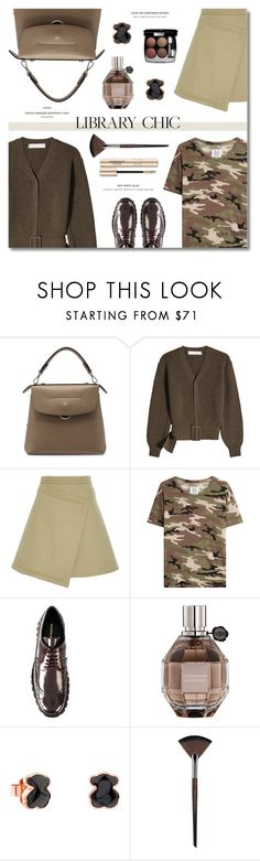 """""""Study Session: Library Chic ... 2017"""" by greta-martin ❤ liked on Polyvore featuring Fendi, Victoria Beckham, Carven, Zoe Karssen, Paloma Barceló, Viktor & Rolf, TOUS, MAKE UP FOR EVER, contestentry and librarychic"""