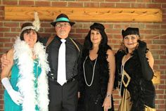 Roaring Twenties Flappers and Gangsters Costumes - Thanks David! #costumes #halloween