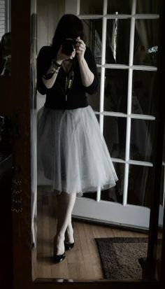 Tulle Skirt with Crystals DIY