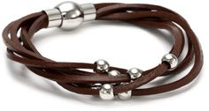 Stainless Steel Brown Leather with Ma...