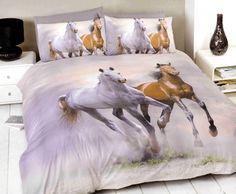 Horse single duvet cover and pillowcase bed set bedding - Spirit King Duvet Set, Queen Duvet, Duvet Sets, Duvet Cover Sizes, Duvet Covers, Kids Twin Bedding Sets, Animal Print Bedding, Double Duvet Set, Stylish Beds