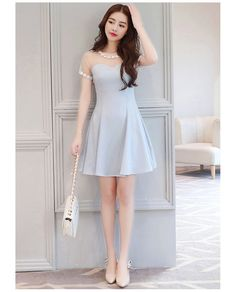 Korean Fashion Trends you can Steal – Designer Fashion Tips Frock Fashion, Girl Fashion, Fashion Dresses, Fashion Design, Cute Dresses, Casual Dresses, Short Dresses, Korean Fashion Trends, Asian Fashion