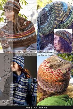 Free Fair Isle hat patterns for feeling cozy during the winter we're already starting to experience | helpful tutorials on stranding techniques and joining colors | DiaryofaCreativeFanatic