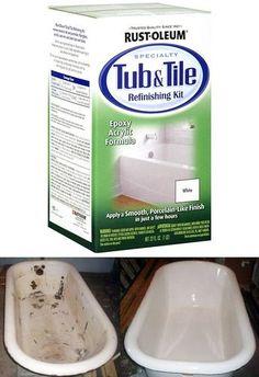 Bathroom Makeover Day 11: How To Paint A Bathtub | Bathtub paint ...