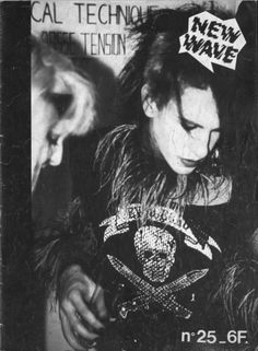 """CHRISTIAN DEATH / ROZZ WILLIAMS   For the French """"NEW WAVE"""" magazine - 1984"""
