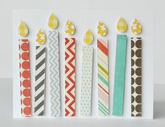 Make embellishment candles from scraps.
