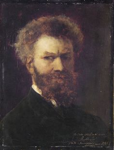 Mihály Munkácsy, Hungarian painter (self portrait, 1881). Look for his amazing works and exbibitions.