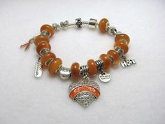 Orange Ribbon - Jewelry creation by Linda Foust