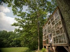 Artists build house of windows for $500