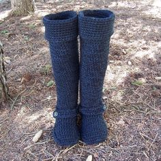Crochet Boots 20 to 25 inches by BeautifulPurpose on Etsy, $175.00